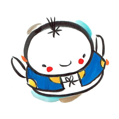 元太郎のイラスト